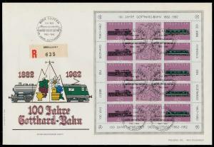 SCHWEIZ BLOCK KLEINBOGEN 1980-1989 Nr 1214+1215 026396