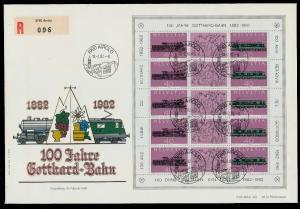 SCHWEIZ BLOCK KLEINBOGEN 1980-1989 Nr 1214+1215 02639A
