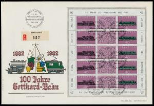 SCHWEIZ BLOCK KLEINBOGEN 1980-1989 Nr 1214+1215 02639E