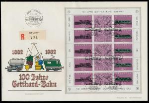 SCHWEIZ BLOCK KLEINBOGEN 1980-1989 Nr 1214+1215 0263A6