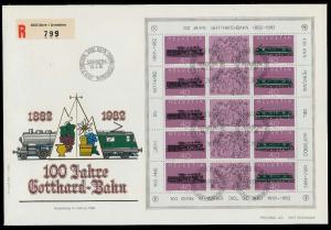 SCHWEIZ BLOCK KLEINBOGEN 1980-1989 Nr 1214+1215 0263AA