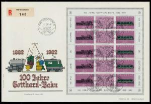 SCHWEIZ BLOCK KLEINBOGEN 1980-1989 Nr 1214+1215 0263AE