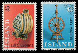 ISLAND 1976 Nr 514-515 gestempelt 045632
