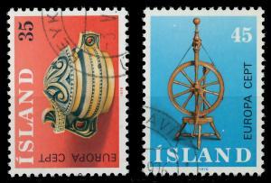 ISLAND 1976 Nr 514-515 gestempelt 045636