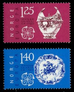 NORWEGEN 1976 Nr 724-725 postfrisch SAC6FCA