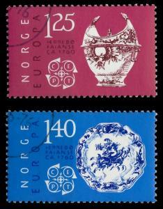 NORWEGEN 1976 Nr 724-725 gestempelt 045752