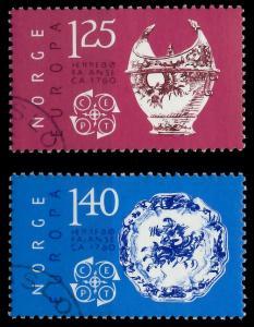 NORWEGEN 1976 Nr 724-725 gestempelt 045756