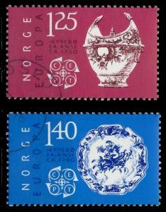 NORWEGEN 1976 Nr 724-725 gestempelt 04575E