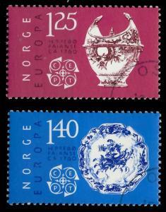NORWEGEN 1976 Nr 724-725 gestempelt 045762