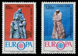 TÜRKISCH-ZYPERN 1976 Nr 27-28 postfrisch SAC70BE