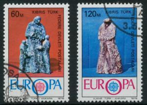 TÜRKISCH-ZYPERN 1976 Nr 27-28 gestempelt 04AF9E