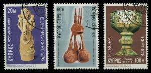 ZYPERN 1976 Nr 435-437 gestempelt 04AFBE