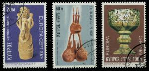 ZYPERN 1976 Nr 435-437 gestempelt 04AFC2