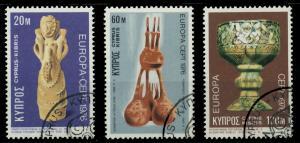 ZYPERN 1976 Nr 435-437 gestempelt 04AFCE