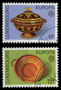 LUXEMBURG 1976 Nr 928-929 gestempelt 04B056
