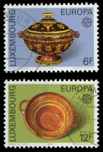 LUXEMBURG 1976 Nr 928-929 gestempelt 04B06E