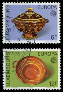 LUXEMBURG 1976 Nr 928-929 gestempelt 04B072