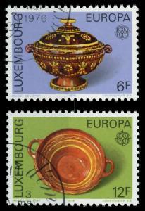 LUXEMBURG 1976 Nr 928-929 gestempelt 04B07A