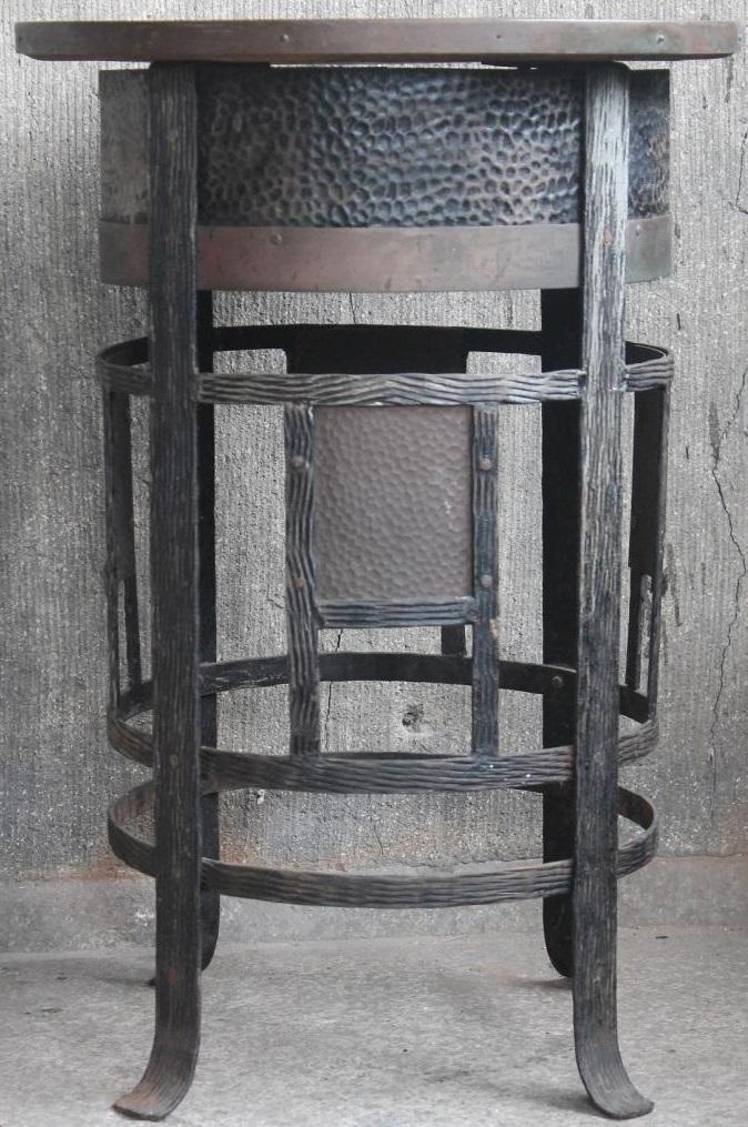 Hochwertiger Jugendstil Rauchertisch / Beistelltisch - Gusseisen um 1900 - Antik Unikat - Milleartifex 0