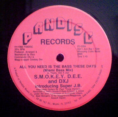 12inch - SMOKEY DEE and DXJ All You Need Is The Bass These Days