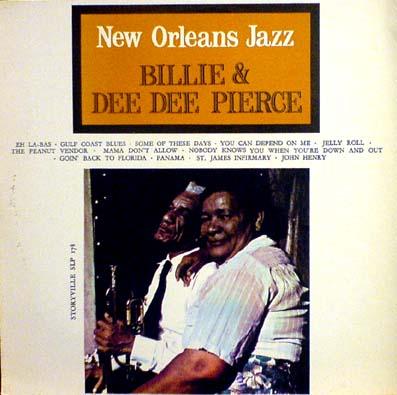 LP - Billie & De De Pierce New Orleans Jazz