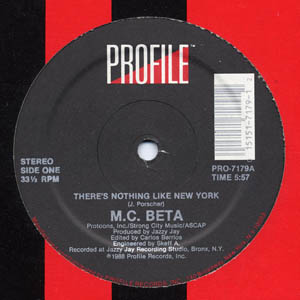 12inch - M.C. Beta There's Nothing Like New York