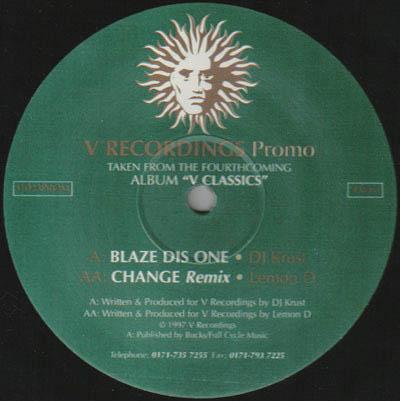 12inch - DJ Krust / Lemon D Blaze Dis One / Change - Remix