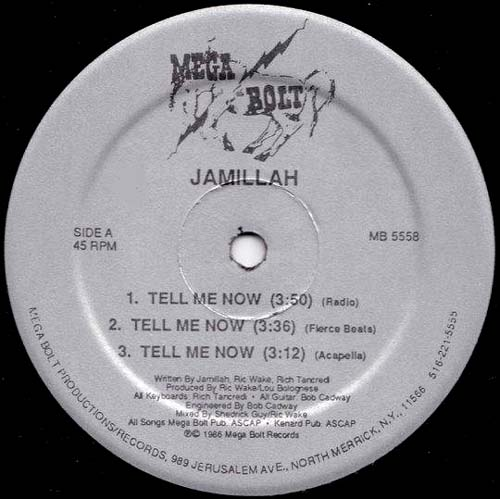 12inch - Jamillah Tell Me Now