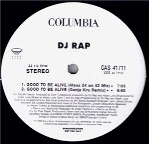 12inch - DJ Rap Good To Be Alive - Remixes