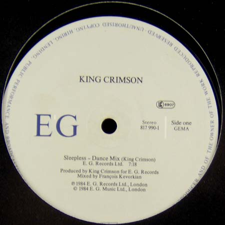 12inch - King Crimson Sleepless