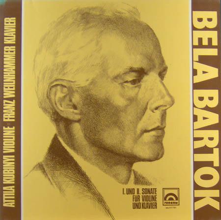 LP - Kubinyi, Attila & Franz Weilnhammer Bela Bartok - I und II Sonate f