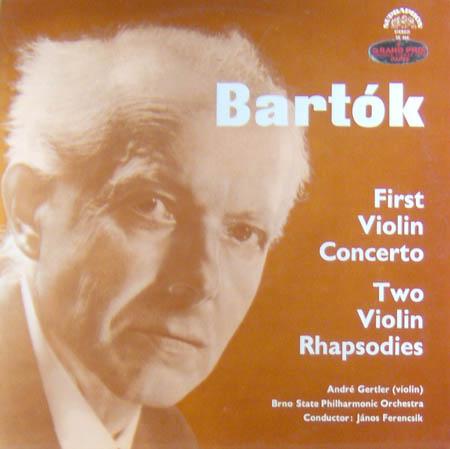 LP - Bartok, Bela First Violin Concerto / Two Violin Rhapsodies