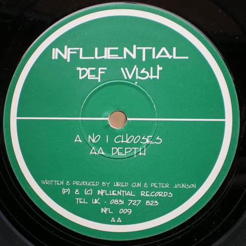 12inch - Def Wish No 1 Chooses / Depth