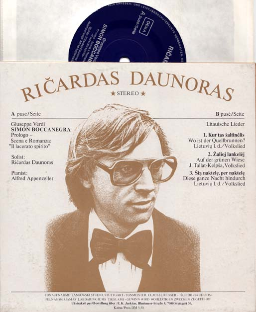 7inch - Daunoras, Ricardas Simon Boccanegra / Litauische Lieder
