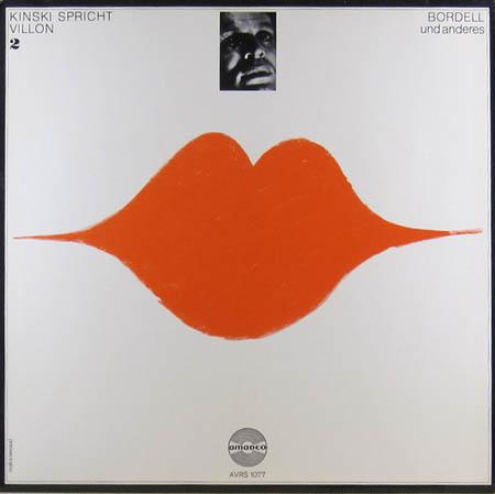 LP - Kinski, Klaus Kinski Spricht Villon 2