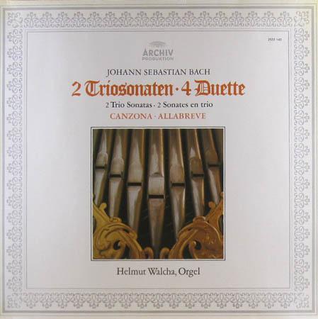 LP - Bach, Johann Sebastian 2 Triosonaten - 4 Duette / Canzona - Allabreve
