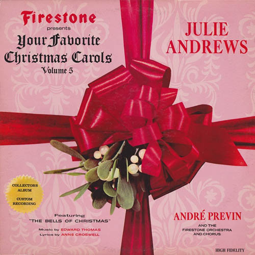 LP - Andrews, Julie with Andre Previn And The Firestone Orchestra And Your Favorite Christmas Carols, Volume 5