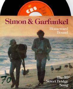 7inch - Simon & Garfunkel Homeward Bound
