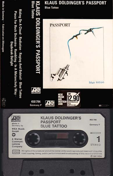 Cassette - Doldinger, Klaus & Passport Blue Tattoo
