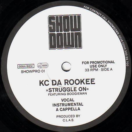 12inch - KC Da Rookee Struggle On / What Da Blood