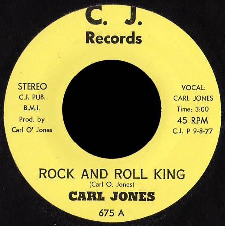 7inch - Jones, Carl Rock And Roll King