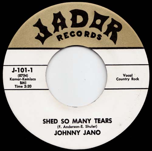 7inch - Jano, Johnny Shed So Many Tears