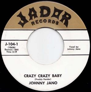 7inch - Jano, Johnny Crazy Crazy Baby