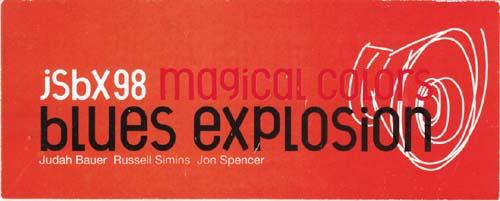 Memorabilia - Jon Spencer Blues Explosion Sticker