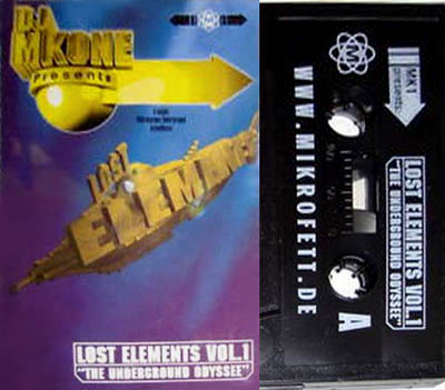 Cassette - DJ MK1 ak DJ MKONE presents Lost Elements Vol. 1 - The Underground Odyssee