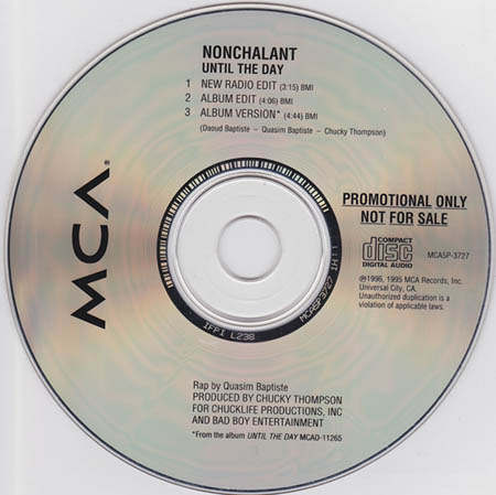 CD:Single - Nonchalant Until The Day