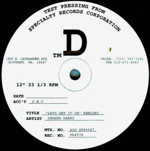 12inch - Shabba Ranks Let's Get It On - Remixes