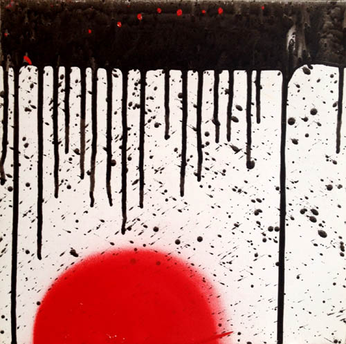 12inch - Fake Blood Yes / No - numbered Edition handmade art cover