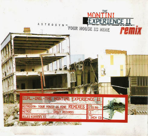 CD:Single - Montini Experience II Astrosyn - Your House Is Mine Remix