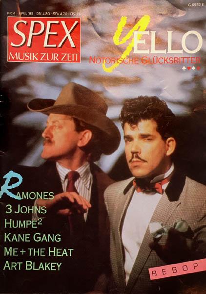 Magazine - Spex - Musik Zur Zeit April 1985